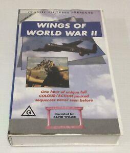 Wings Of World War II VHS Documentary Ex Rental