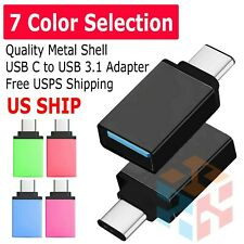 Lot  USB-C 3.1 Male to USB A Female Adapter Converter OTG Type C Android Phone