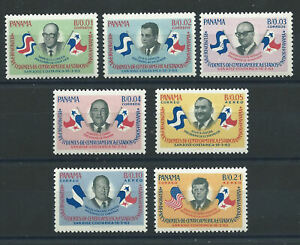 Panama N°374/77 + PA 288/90* (MH) 1963 - Réunion des présidents d'Amérique