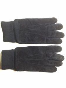 Mens black leather gloves (90%) **BNWOT**