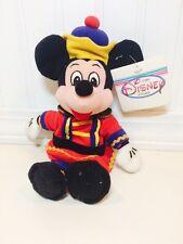 "The Disney Store Exclusive Nutcracker Mickey 10"" Mini Bean Bag Plush NWT"