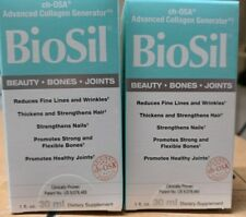 2 BRAND NEW BioSil BY NATURAL FACTORS  1 FL oz.
