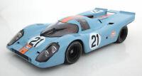 1:12 Minichamps 1970 Porsche 917 K Gulf race car 24hr LeMans Rodriques Kinnunen