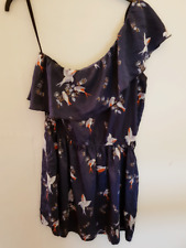 Vera Modo - XS 6/8 mini dress Oriental One Shoulder with birds and ruffle top