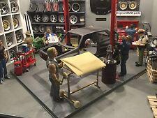 1:18 Tuning Modell-Hauben+Türen-Lackierständer - beweglich - Exklusiv - Diorama