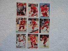 Mike Sillinger 1990/91 Upper Deck Rookie Card 9 Card Lot Detroit Red Wings MINT