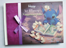 DISNEY STITCH LILO AND STITCH  BIRTHDAY/BABY SHOWER GUEST BOOK - ANY DESIGN