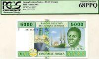 CONGO DEMOCRATIC REPUBLIC 5000 FRANCS 2002 PICK 109 T LUCKY MONEY VALUE $680