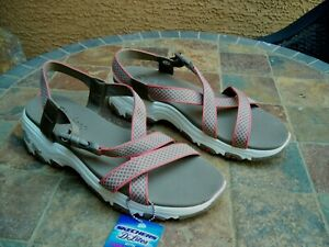 New Skechers D'Lites w Yoga Foam Sandals sz 11