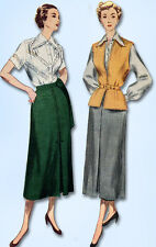 1950s Vintage Simplicity Sewing Pattern 3176 Uncut Misses Skirt & Blouse Size 16