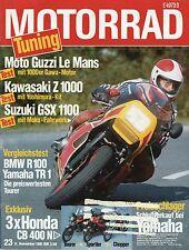 Motorrad 23 81 11.11.1981 BMW R100 Fantic Caballero Yamaha TR1 YZ125J KTM CB400N