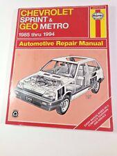 Chevrolet Sprint Metro Haynes Automotive Repair manual  1985 Thru 1991