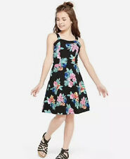 Justice Girl's Size 18 Plus Pattern A Line Dress Floral Print New with Tags