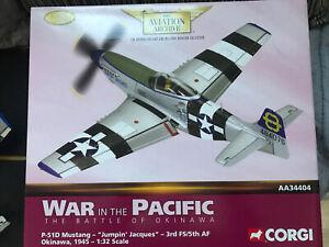 Corgi Aviation AA34404 P-51D Mustang Jumpin Jacques Okinawa 1945 1:32 Ltd Ed