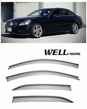 For 10-14 Mercedes Benz W212 E-Class WellVisors Side Window Visors Black Trim