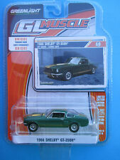 GREENLIGHT GL MUSCLE SERIES 14*1966 SHELBY GT-350H* IVY GREEN/GOLD 1:64 SCALE