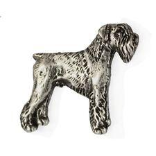 Schnauzer, silver covered pin, high qauality Art Dog CA