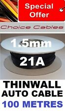 100M AUTOMOTIVE CABLE REEL 1.5MM 21A 12V  VEHICLE WIRE 21/0.3, 1.5MM 100 METRES