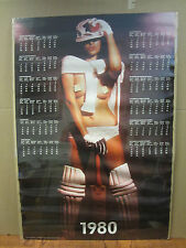 Hot Girl calendar ORIGINAL man cave Vintage Poster 1980 2518