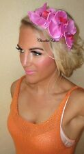 Pink Purple Orchid Flower Alice Band Hair Head Band Choochie Choo Bridesmaids