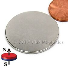 """Neodymium Disk/Wafer Magnets N45 1.25"""" x 1/16""""  NdFeB Rare Earth Magnets Lot 10"""