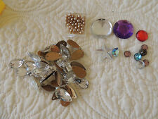 VINTAGE beads,connector beads, sewing,pear shape, faceted 35 PC. +10 different+