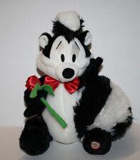 Hallmark Warner Bros Pepe Le Pew with Rose NO TALK SOUND Stuffed Plush Soft Toy