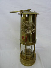 Vintage Antique Thomas & Williams Aberdare Miners Brass Oil Lamp