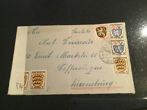 Luxemburg Luxembourg Brief 1946 Französische Zone Zensur Vorderseite
