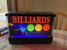 Vintage Neon Nuon Gemini Billiards Pool Black Light Clock 1980's Retro - Tested