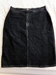 Oasis denim pencil skirt, size 14