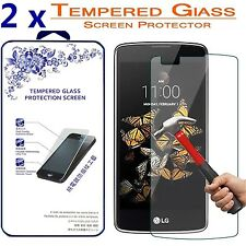 [2-Pack] For LG K8V (Verizon) HD Tempered Glass Screen Protector 9H 0.26mm Glass
