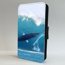 Surfing Wave Amazing Whale Blue Ocean FLIP PHONE CASE COVER for IPHONE SAMSUNG