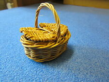 1/12 scale Dolls House Miniature  Oval Hamper Wicker Basket