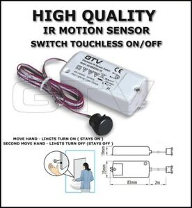 IR MOTION SENSOR SWITCH TOUCHLESS ON/OFF - MIRROR
