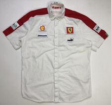 Puma Ferrari Scuderia Men's Shirt Adult XL White Shell Santander Bridgestone