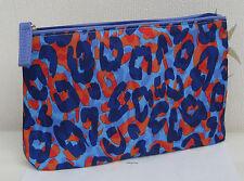 Job Lote de 5 X Estee Lauder Azul Violeta y Rojo con patrón de impresión de bolsas de maquillaje