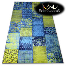 "TRADITIONAL AGNELLA RUGS azure squares ""STANDARD"" modern designs carpet"
