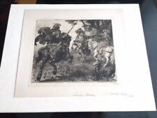 Etching by George Percy Jacomb-Hood. The Redcrosse Knight, The Faerie Queene