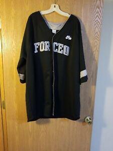 Nike Air Force 1 Snap Up Sewn Baseball Jersey 3XL EUC