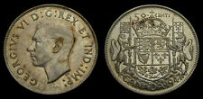 1947 Canada Silver Fifty 50 Cent Piece King George VI VF-20
