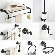 Oil Rubbed Bronze Carved Bathroom Accessories Bathroom Hardware Set Towel Bar