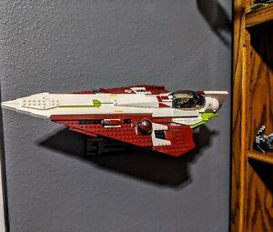 Wall mount display for Lego 10215 UCS Obi-Wan Jedi Starfighter