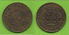 10 (X) Reis Portugal Madeira D. Maria II 1842 Kupfer