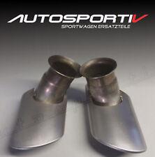 Porsche Carrera 996 Auspuff Endrohre tail pipe 99611125155  99611125255 NEU