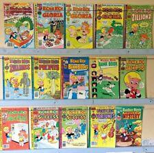 Lot of 15 Richie Rich Cartoon Comics bronze age