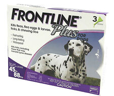 (Open Box) Merial Frontline Plus for Dogs 45 to 88 lbs 3 Doses In Box
