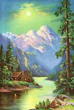 Wm Thompson Cabin Stream Mountains Green