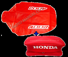 KIT HONDA XR400R 2000 SEAT COVER + REAR FENDER BAG RED