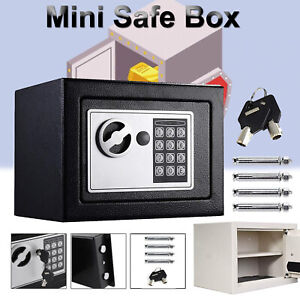 Electronic Security Safe Money Cash Deposit Box Office Home Safety Large Size UK